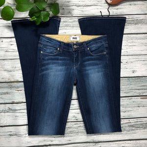 """Paige Lou Lou dark wash flare jeans Sz 25 35"""" LONG"""